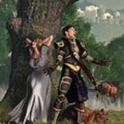 Sir Justinus The Singing Knight Art Print