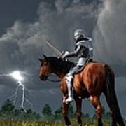 Sir Lightning Rod Art Print