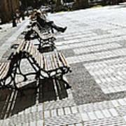 Sitting In The Park - Madrid Art Print