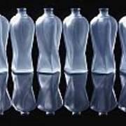 Six Glass Bottles Art Print by David Chapman