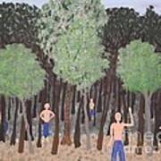 Six Little Cherokee Art Print