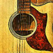 Six-string Acoustic Viii Art Print