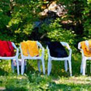 Six Summer Chairs Art Print