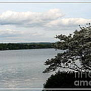Skaneateles Lake In Ny Finger Lakes Water Color Effect Art Print