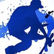 Skateboarder Blue Art Print