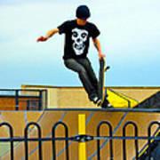 Skateboarding Xi Art Print