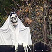 Skeleton Ghost Art Print