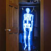 Skeleton In The Closet Art Print by Tony Cordoza