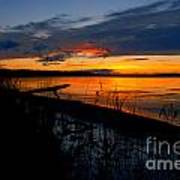 Skeloton Lake Sunset Hdr Art Print