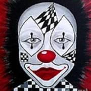 Skeptical...clown Art Print