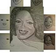 Sketching Oprah Art Print