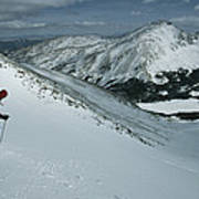 Skier Phil Atkinson Begins His Descent Art Print