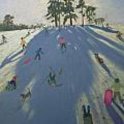 Skiing Print by Andrew Macara