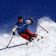 Skiing Down The Mountain Art Print