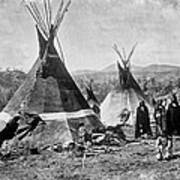 Skin Tepees, Shoshone Indians. Ca Print by Everett
