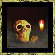 Skull And Candle Art Print