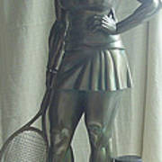 Skupture Tennis Player Art Print