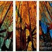 Sky-trees Montage Art Print