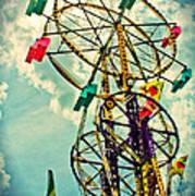 Sky Wheel Carnival Ride Art Print