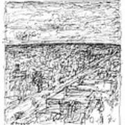 Skyline Sketch Art Print