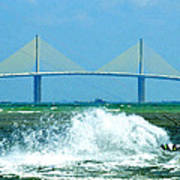 Skyway Splash Print by David Lee Thompson