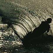 Slalom Waterskier Silhouette Art Print