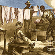 Slaves In Union Camp Art Print by Photo Researchers