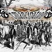 Slaves Traveling To Freedom Land Art Print by Belinda Threeths
