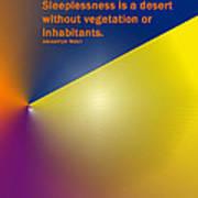 Sleeplessness Art Print