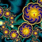 Sleepy Whirling Little Suns Art Print