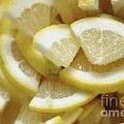 Slices Of Lemon Art Print