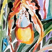 Slipper Foot Tropics Art Print