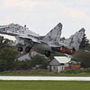 Slovak Air Force Mig-29 Fulcrum Taking Art Print