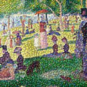 Small Bubbly Sunday On La Grande Jatte Art Print by Mark Einhorn