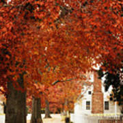 Small Town Autumn -1 Art Print