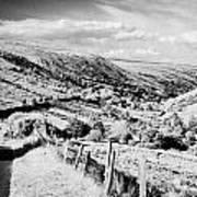 Small Twisty Narrow Country Mountain Road Through Glendun Scenic Route Glendun County Antrim Art Print by Joe Fox