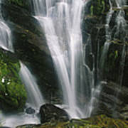 Small Waterfall Near The Milford Track Art Print