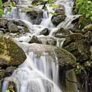 Small Waterfalls And Brook West Bolton Art Print