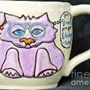 Smart Kitty Mug Art Print