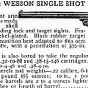 Smith & Wesson Pistol Art Print