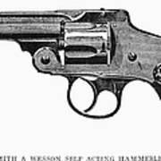 Smith & Wesson Revolver Art Print