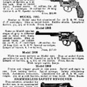 Smith & Wesson Revolvers Art Print