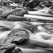 Smokey Mountain Stream Of Flowing Water Over Rocks Art Print