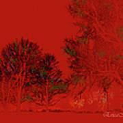 Smokey Woods Art Print