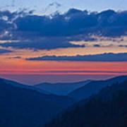 Smoky Mtn Sunset Art Print