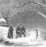 Snaring Rabbits, 1867 Art Print