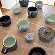 Snickerhaus Pottery Art Print by Christine Belt
