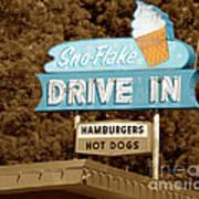 Sno-flake Drive In Lake Tahoe Art Print