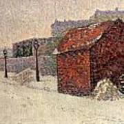 Snow Butte Montmartre Art Print by Paul Signac