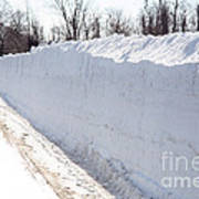 Snow By The Roadside Art Print by Ted Kinsman